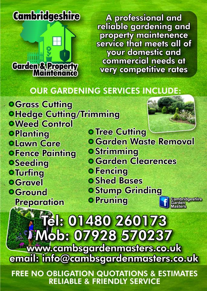 cambridgeshire garden property maintenance